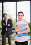 Employees smartly dressed Stock Image