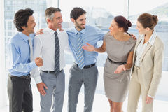 Employees smiling and having fun Stock Photography