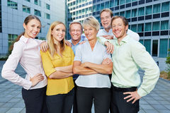 Employees and staff as a business team Stock Photos