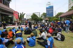 Employees on strike Royalty Free Stock Image