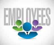 Employees team sign illustration design graphic Stock Photos