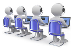 Employees working in a call center Stock Images
