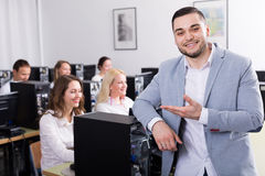 Employees working at office Stock Photo