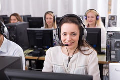 Employees working at office royalty free stock photography
