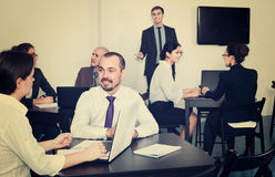 Employeesin office on business meeting Royalty Free Stock Photography