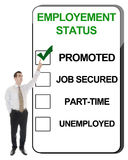 Employement Status Stock Photo