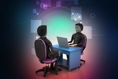 Employer and applicant, job hiring concept Royalty Free Stock Image