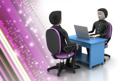 Employer and applicant, job hiring concept Royalty Free Stock Photos