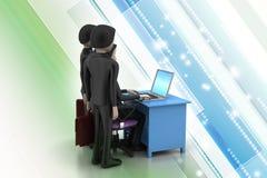 Employer and applicant, job hiring concept Stock Photos