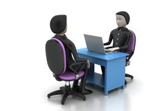 Employer and applicant, job hiring concept Stock Image