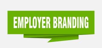 Employer branding. Sign.  paper origami speech bubble.  tag.  banner stock illustration