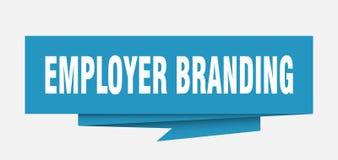 Employer branding. Sign.  paper origami speech bubble.  tag.  banner vector illustration