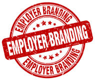 Employer branding red stamp. Employer branding red grunge stamp Royalty Free Stock Images