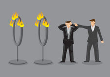 Employer Demand Impossible Mission from Employee cartoon vector Stock Image