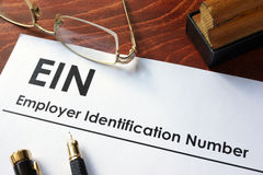 Employer Identification Number EIN. Federal Employer Identification Number FEIN, also known as an Employer Identification Number EIN royalty free stock images