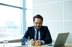 Employer in office Royalty Free Stock Image