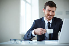 Employer at work Royalty Free Stock Image