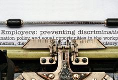 Employers discrimination Royalty Free Stock Photo