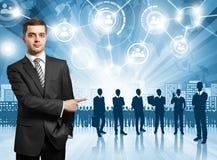 Employeur d'homme d'affaires Image stock