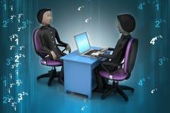 Employeur et demandeur, concept de location du travail Photo libre de droits