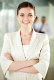 Employeur heureux Images stock