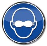 Employez les protecteur de lunettes et la protection oculaire en grande partie opaque illustration de vecteur