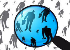 Employment. Inspection of employment and working as employe Stock Image