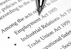 Employment act Stock Photo