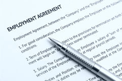 Employment agreement Royalty Free Stock Images