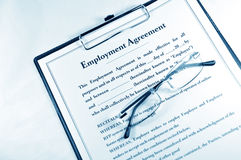 Employment Agreement Stock Photography