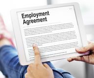 Employment Agreement Form Policy Concept. Employment Agreement Form Policy Benefits Concept Stock Photos