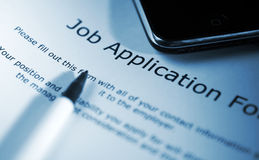 Employment application Royalty Free Stock Photography