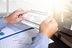 Employment Application Agreement Form ,application for employmen Royalty Free Stock Image