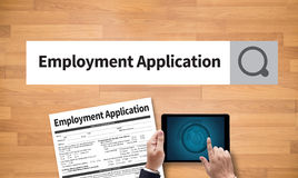 Employment Application Agreement Form ,application for employmen Royalty Free Stock Photos