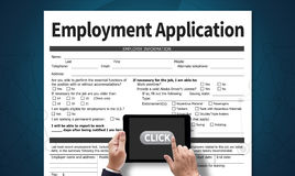 Employment Application Agreement Form ,application for employmen Stock Image