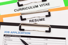 Employment application Stock Images
