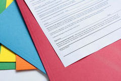 Employment Application Form Stock Photo