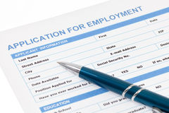 Employment application Stock Photos