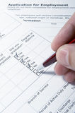 Employment application job Stock Photography