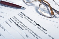 Employment application job Royalty Free Stock Image