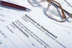 Employment application job