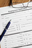 Employment Application Royalty Free Stock Photo