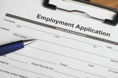 Employment Application Stock Photography