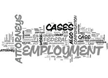Employment Attorneys Text Background Word Cloud Concept Stock Photo