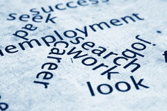 Employment concept. Close up of Employment concept Stock Photography