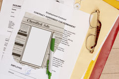 Employment contract Royalty Free Stock Photos