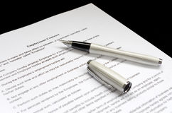 Employment contract Royalty Free Stock Photography