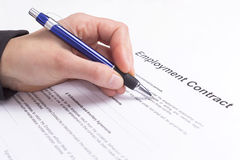 Employment contract Royalty Free Stock Images