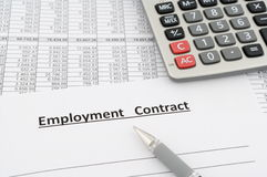 Employment contract Royalty Free Stock Image