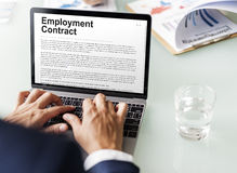 Employment Contract Obligation Terms Agreement Concept Royalty Free Stock Photo